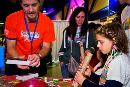 Volunteer at our Colorosity event show of color-themed activities