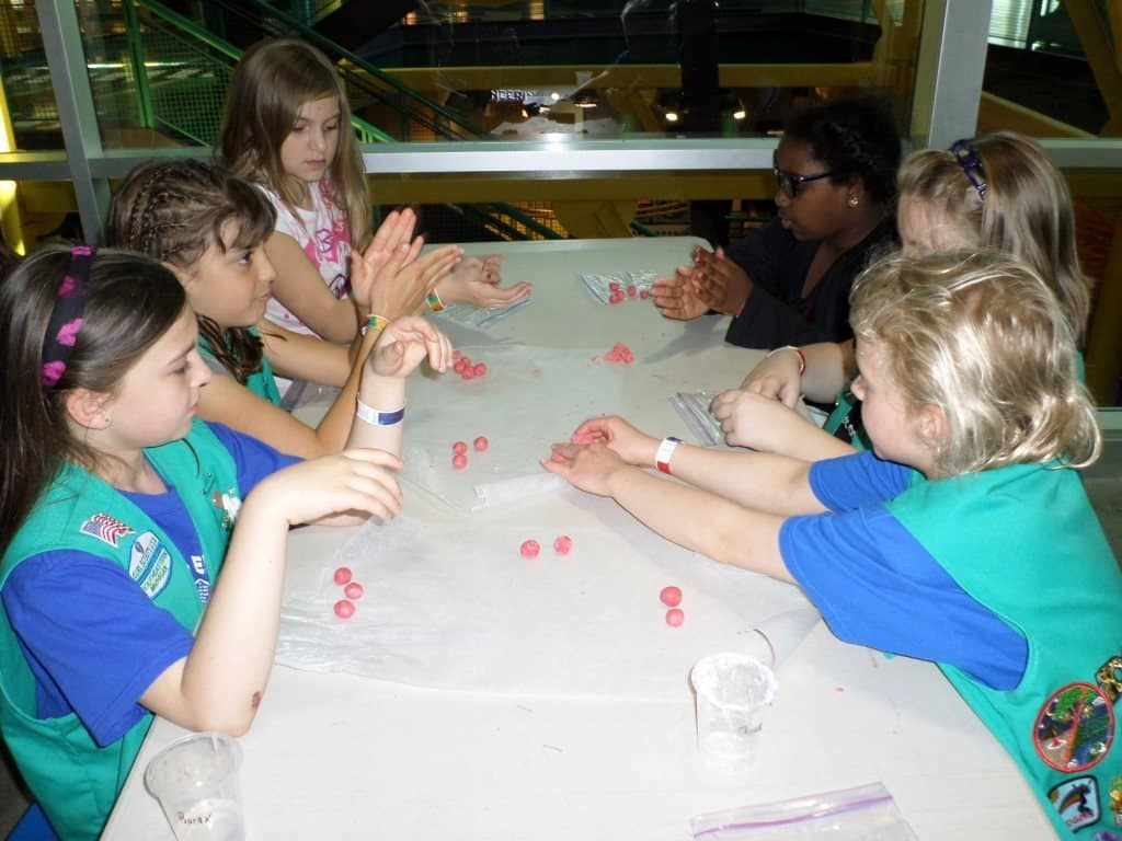 Girl Scouts complete a workshop at MiSci