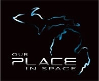 A logo for the Our Place in Space planetarium show