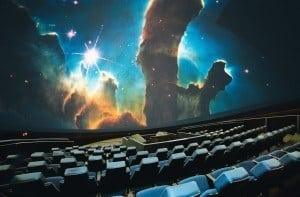 A image of space in the planetarium
