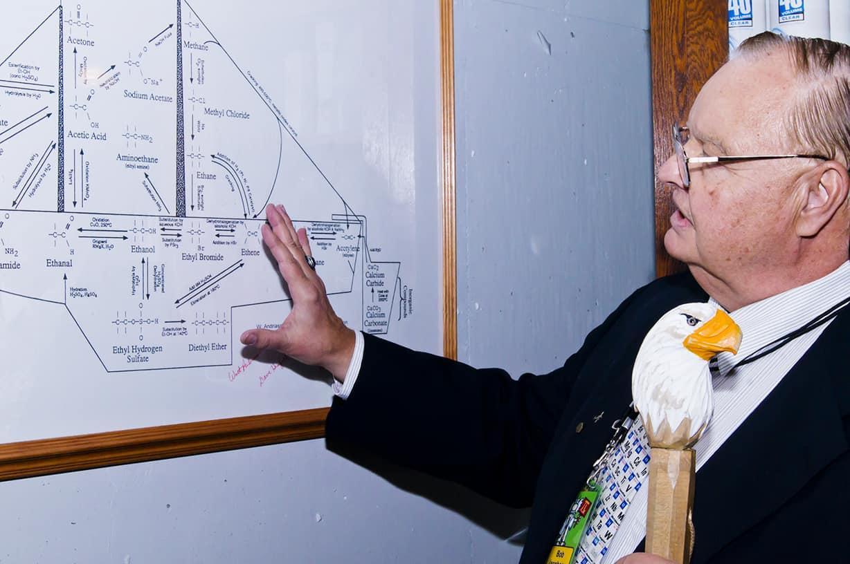 Volunteer explaining science concepts