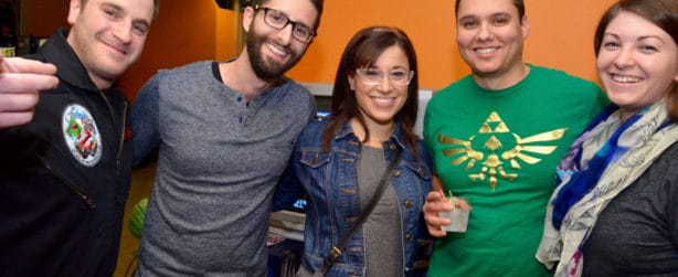 Young adults enjoy the science center's After Dark event